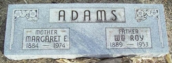 Margaret Elizabeth Bessie <i>Ford</i> Adams