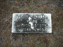 Verda Fredonia <i>White</i> Carr
