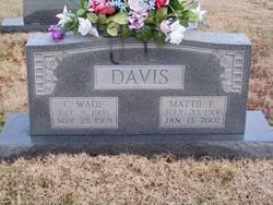 Mattie Sumner <i>Ezell</i> Davis