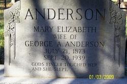 Mary Elizabeth <i>Slade</i> Anderson