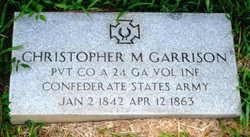Pvt Christopher Martin Garrison