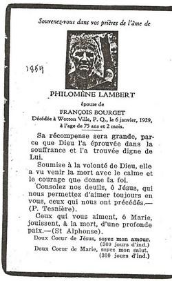 Philomene <i>Lambert</i> Bourget