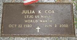 Julia <i>Kilpatrick</i> Cox