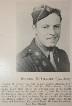 Pvt Houston W Stewart