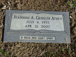 Jeannine A. <i>Gensler</i> Athey