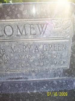 Mary Ann <i>Green</i> Bartholomew