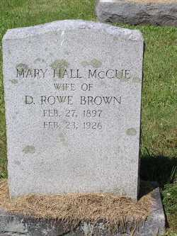 Mary Hall <i>McCue</i> Brown