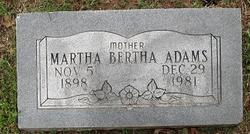 Martha Bertha Adams