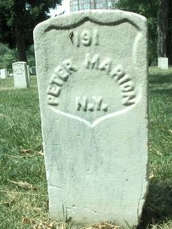 Pvt Peter Marion