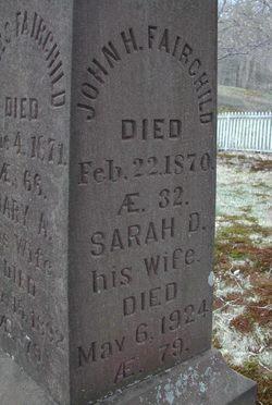 Sarah Elizabeth <i>Dunham</i> Fairchild