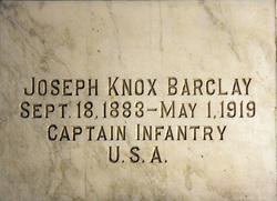 Capt Joseph Knox Barclay
