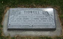 Frank Vernon Tidwell