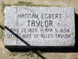 Hannah <i>Egbert</i> Taylor