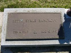 Bette Byrle <i>Booton</i> Bancroft