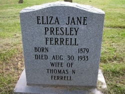 Eliza Jane <i>Presley</i> Ferrell