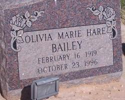 Olivia Marie <i>Hare</i> Bailey