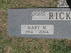 Mary Margaret <i>Manary</i> Brown/Rickman