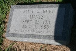 Alma G. <i>Emig</i> Davis