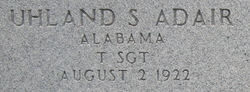 Sgt Uhland S. Adair