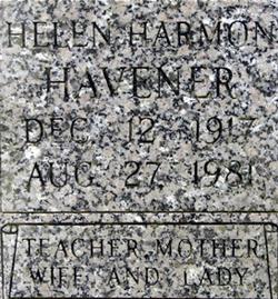 Helen Francis <i>Harmon</i> Havener