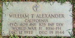 PFC William Thomas Alexander