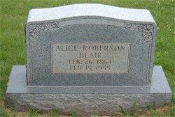 Alice <i>Roberson</i> Blair