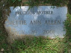 Mettie Ann <i>Atchley</i> Allen