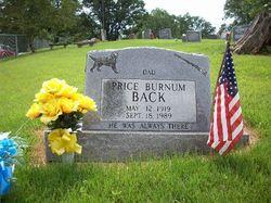 Price Burnum Back