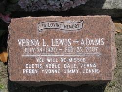 Verna L. <i>Lewis</i> Adams