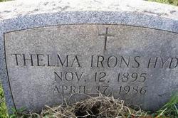 Thelma <i>Irons</i> Hyde