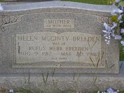 Helen <i>McGinty</i> Breeden