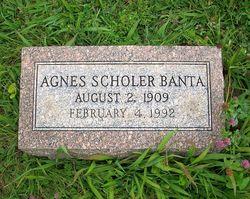 Agnes <i>Scholer</i> Banta