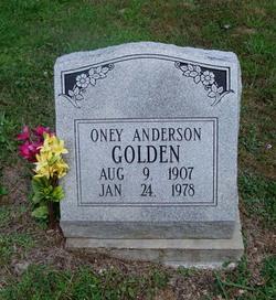 Oney Anderson Golden