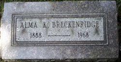 Alma K. <i>Knight</i> Breckenridge