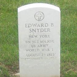 SGTMaj Edward B Snyder