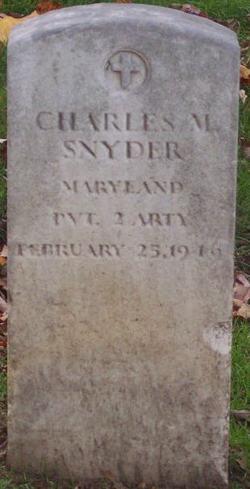 PVT Charles M Snyder