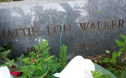 Mattie Lou <i>May</i> Walker