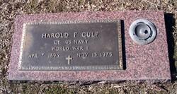 Harold F. Culp