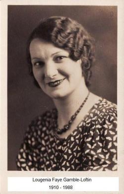 Lougenia Faye <i>Gamble</i> Loftin