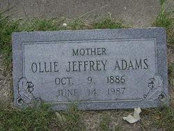 Sarah Ollie <i>Jeffrey</i> Adams