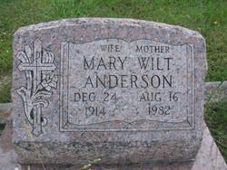 Mary <i>Wilt</i> Anderson