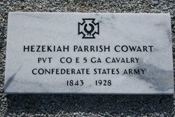 Pvt Hezekiah Parrish Cowart