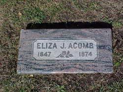Eliza <i>Jones</i> Acomb