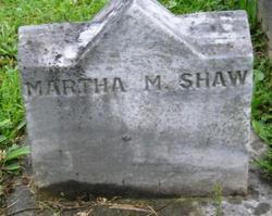 Martha A M <i>Findley</i> Shaw
