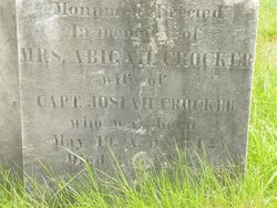 Mrs Abigail <i>Leonard</i> Crocker