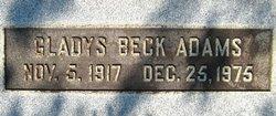 Gladys Eudora <i>Beck</i> Adams