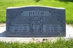 Agatha Pratt <i>VanOrden</i> Hatch