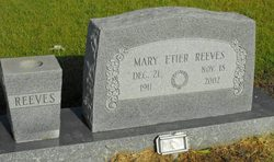 Mary <i>Etier</i> Reeves