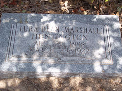 Lura Dean <i>Marshall</i> Huntington