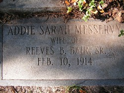 Addie Sarah <i>Messervy</i> Bair